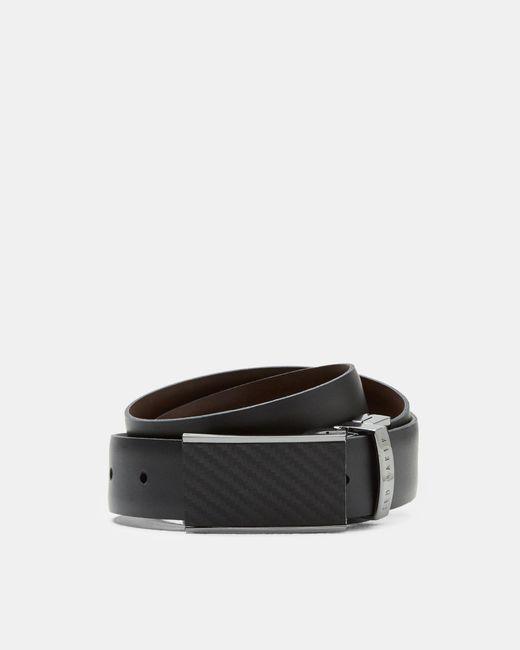 Ted Baker   Black Reversible Leather Belt for Men   Lyst