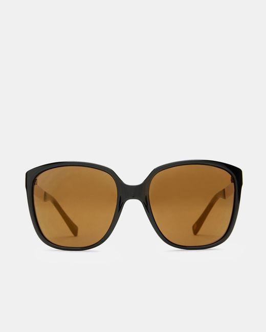 Ted Baker | Black Oversized Metallic Arm Sunglasses | Lyst