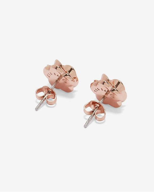 Ted Baker - Pink Floral Stud Earrings - Lyst