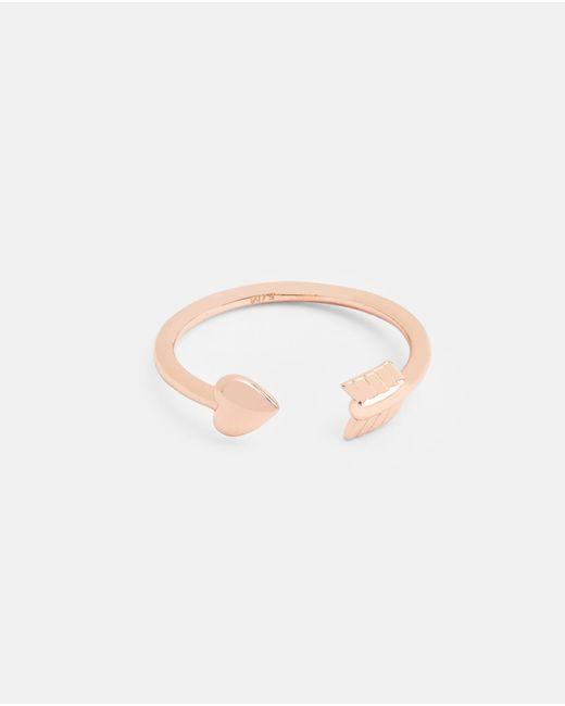 Ted Baker - Metallic Cupid Arrow Heart Ring - Lyst