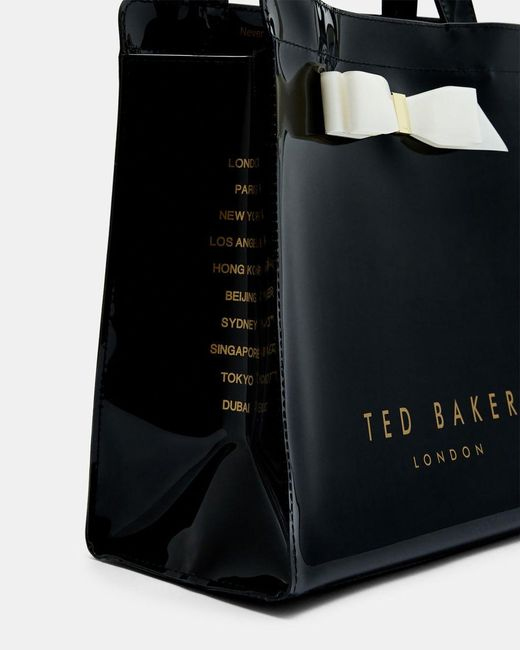 Ted Baker Black Almacon Bow Large Icon Bag