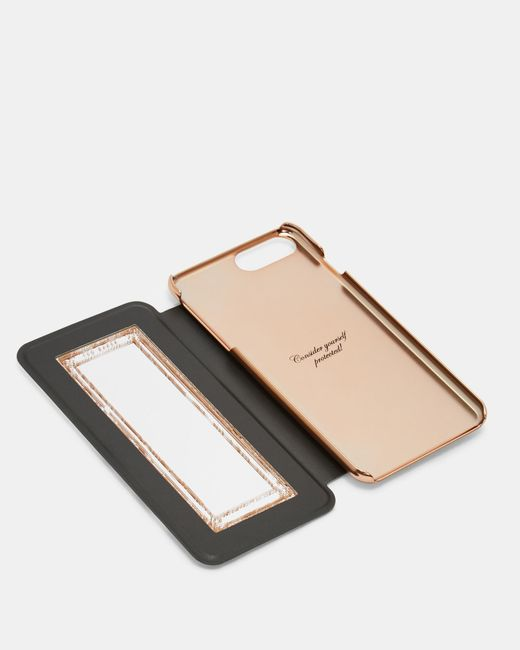 Ted Baker White Neapolitan Iphone 6/7/8 Plus Book Case