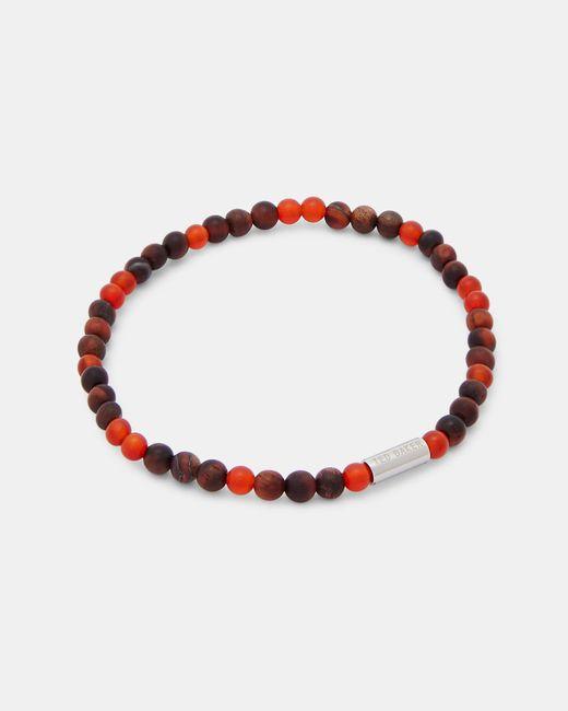 Ted Baker - Red Semi-precious Beaded Bracelet - Lyst