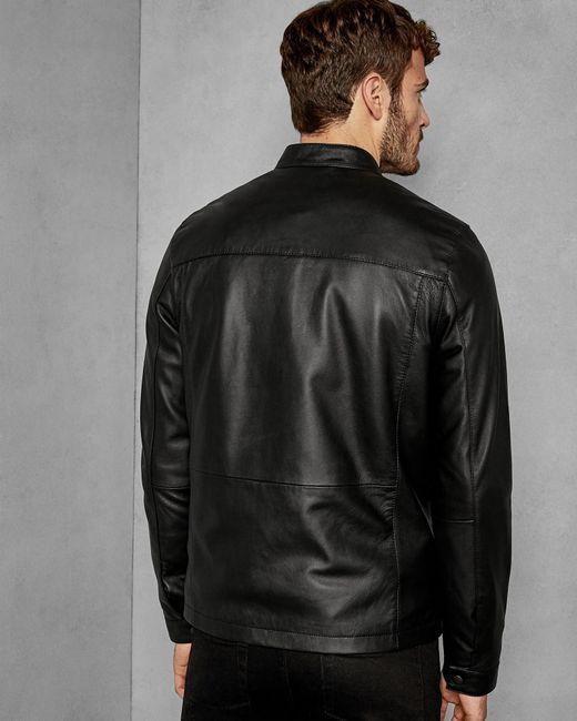 981515244 ... Ted Baker - Black Leather Jacket for Men - Lyst