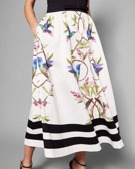 d3b50b69c Ted Baker - Black Highgrove V-neck Cotton Midi Dress - Lyst ...
