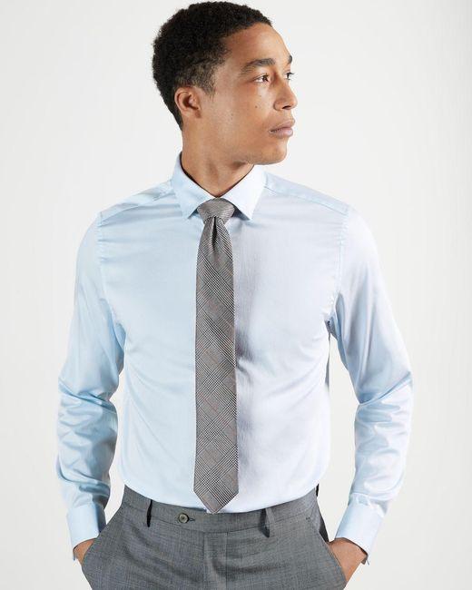 Ted Baker Blue Plain Cotton Shirt for men