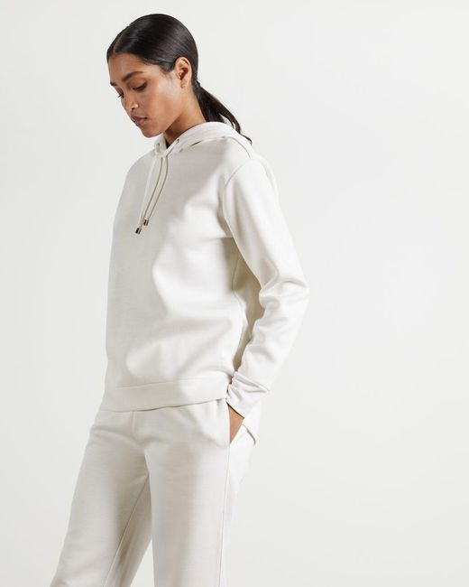 Ted Baker White Relaxed Hoodie