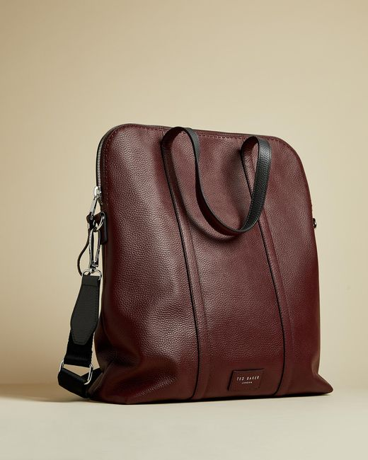 Ted Baker Red Core Leather Tote for men