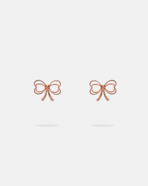 Ted Baker - Multicolor Small Heart Bow Earrings - Lyst