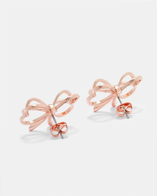 Ted Baker - Multicolor Small Heart Bow Earrings - Lyst
