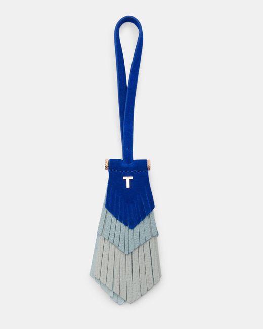 Ted Baker - Blue Flat Leather Tassel Bag Charm - Lyst