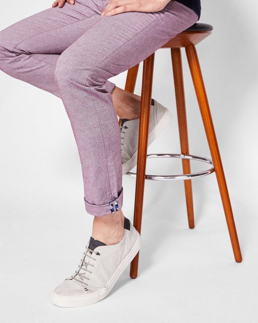 Ted Baker - Slim Fit Textured Chinos for Men - Lyst