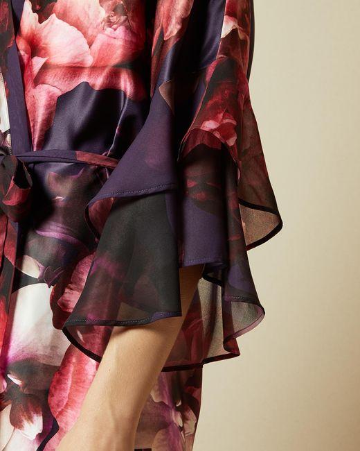 Kimono Avec Imprimé Splendour Ted Baker en coloris Red