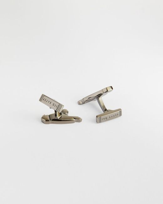 Ted Baker Metallic Brass Parrot Cufflinks for men