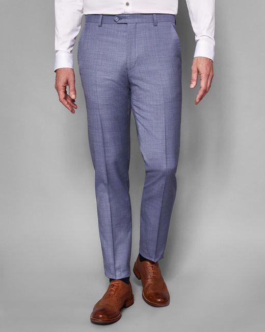 Ted Baker - Blue Debonair Plain Wool Suit Trousers for Men - Lyst