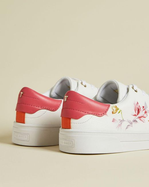 Ted Baker Leather Floral Trainers in