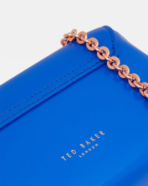 64fa868c94599 ... Ted Baker - Blue Crystal Bobble Leather Cross Body Bag - Lyst ...