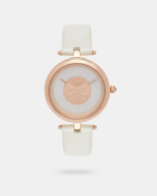 Ted Baker | Multicolor Bow Detail Dial Watch | Lyst