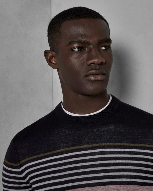 Ted Baker - Multicolor Striped Wool Sweater for Men - Lyst