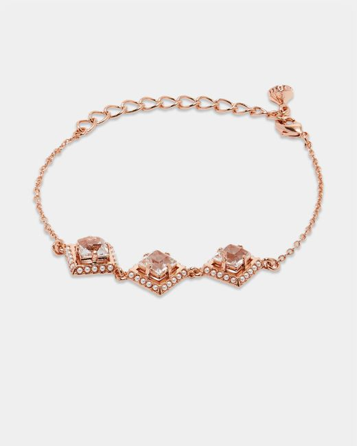 Ted Baker - Metallic Pearl And Crystal Bracelet - Lyst