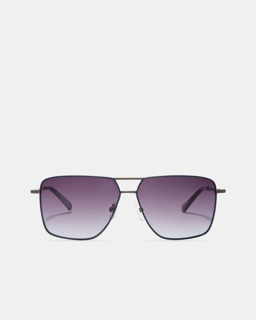 Ted Baker - Gray Angular Sunglasses for Men - Lyst