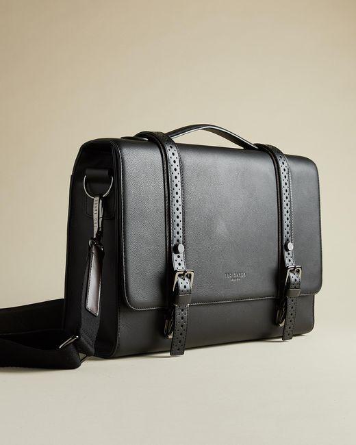 Ted Baker Black Leather Satchel for men