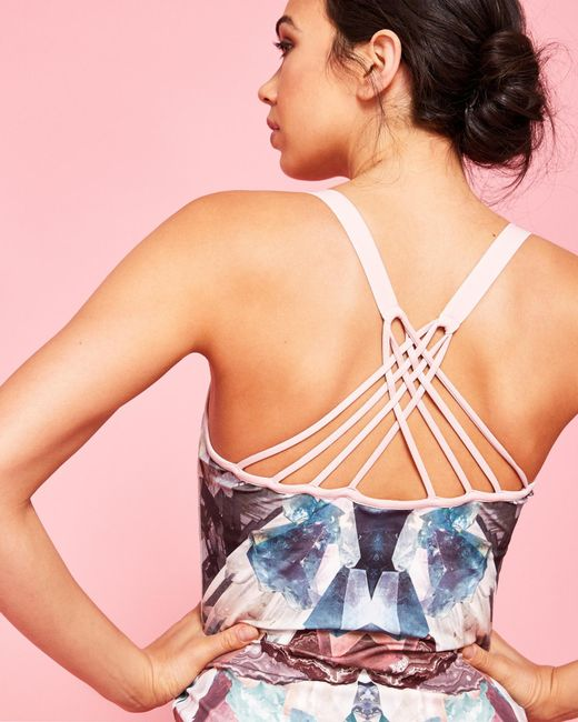 Ted Baker   Multicolor Mirrored Minerals Cross Back Vest Top   Lyst