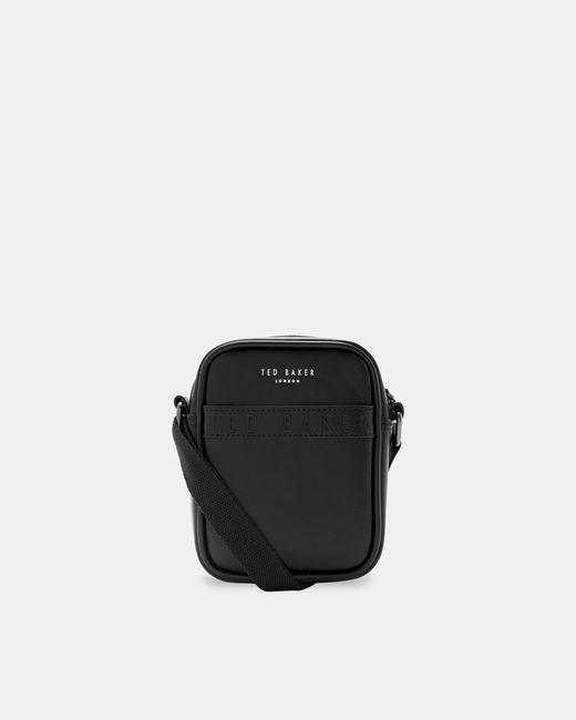 Ted Baker Black Branded Small Flight Bag for men