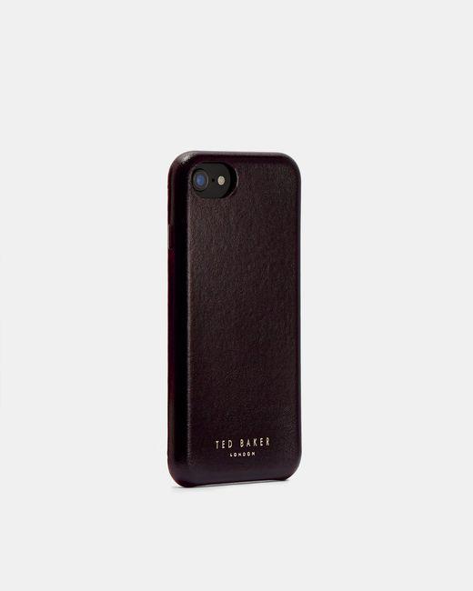 Ted Baker Black Leather Iphone 6/6s/7/8 Clip Case for men