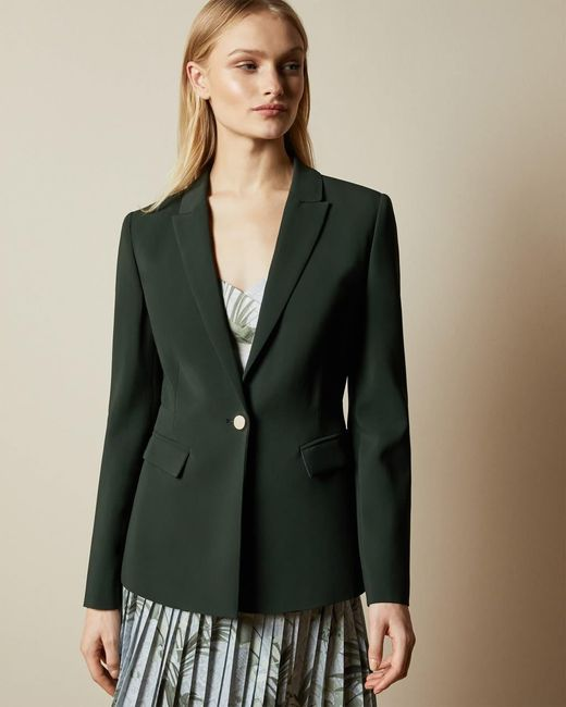 Ted Baker Green Single Breasted Blazer Jacket