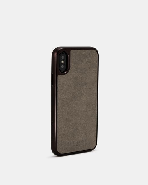 Ted Baker Brown Connected Suede Iphone X/xs Case for men