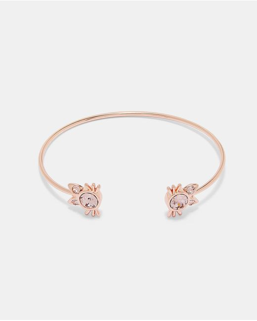 Ted Baker - Pink Crystal Kitten Cuff - Lyst
