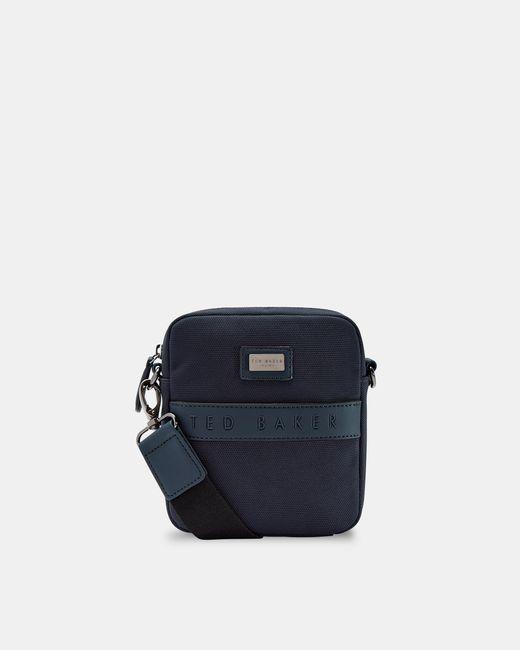 Ted Baker Blue Nylon Mini Flight Bag for men