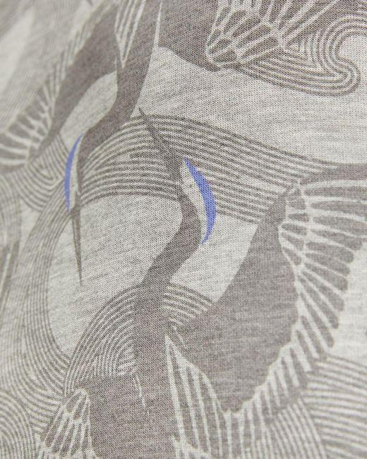 Ted Baker Sweatshirt Mit Vogel-print in Gray für Herren