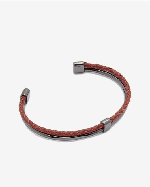 Ted Baker | Metallic Leather And Metal Cuff for Men | Lyst