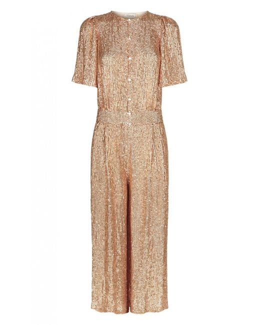 Temperley London | Metallic Cropped Olina Jumpsuit | Lyst