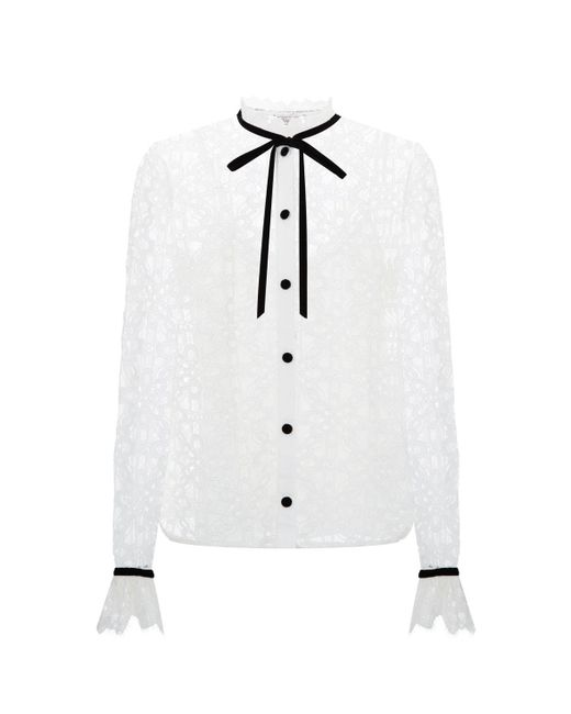 Temperley London | White Eclipse Lace Shirt | Lyst