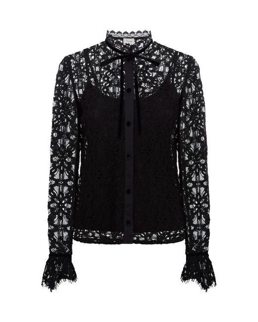 Temperley London | Black Eclipse Lace Shirt | Lyst