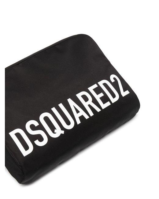 Marsupio con stampa di DSquared² in Black da Uomo