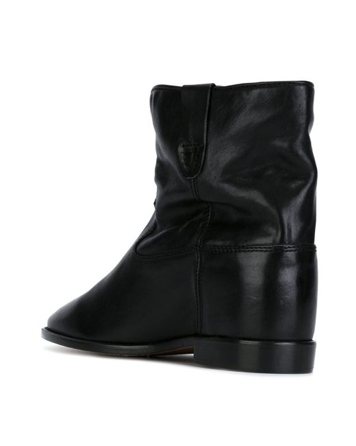 toile isabel marant crisi suede boots in black save 39 lyst. Black Bedroom Furniture Sets. Home Design Ideas