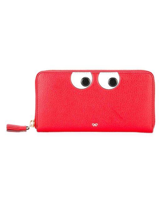 Anya Hindmarch | Red Eyes Zip Around Wallet | Lyst