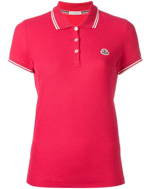 Moncler Polo Tee In Pink Save 7 Lyst