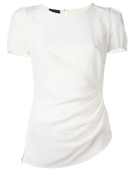 emporio armani plain t shirt in white save 51 lyst