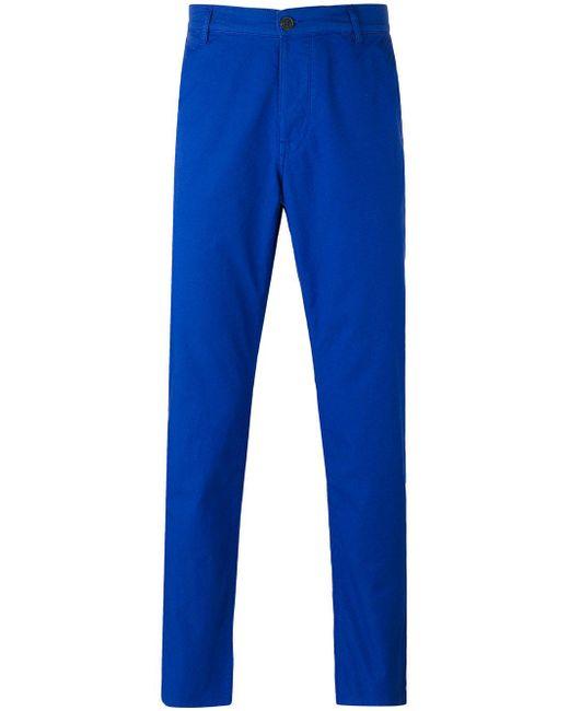 KENZO | Blue Straight Leg Trousers for Men | Lyst