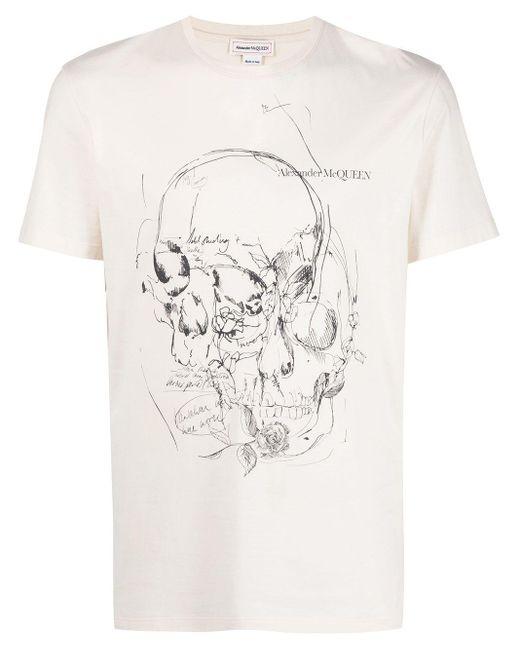 T-shirt con stampa di Alexander McQueen in Multicolor da Uomo