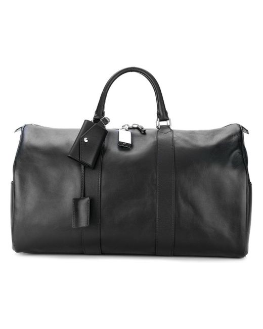 CALVIN KLEIN 205W39NYC - Black Leather Holdall for Men - Lyst