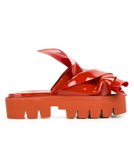 N°21 | Red Knotted Slider Sandal | Lyst