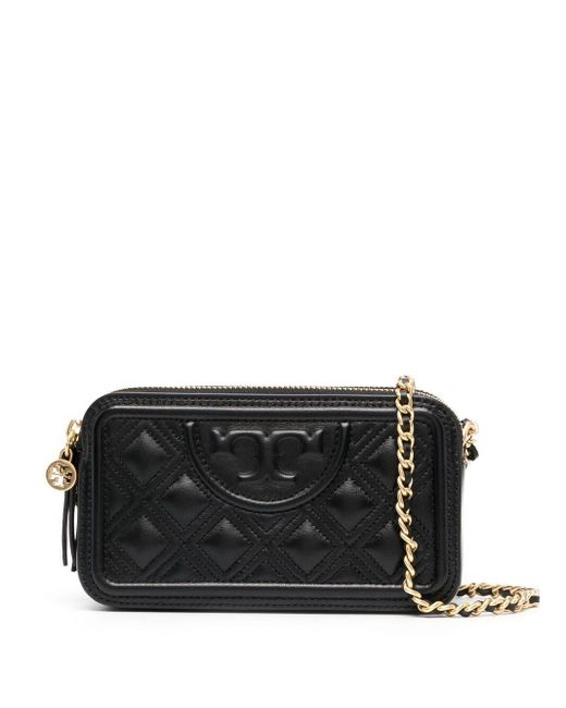 Tory Burch Black Fleming Crossbody Bag