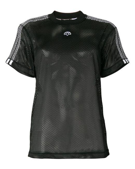 Alexander Wang Logo T Shirt In Black Lyst
