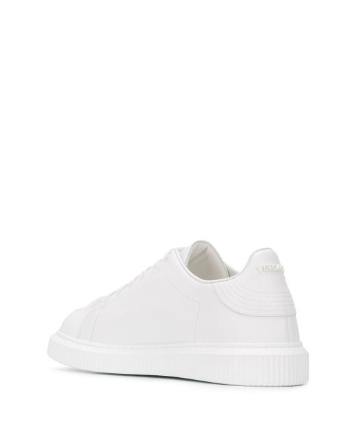Versace White Sneakers With Logo for men